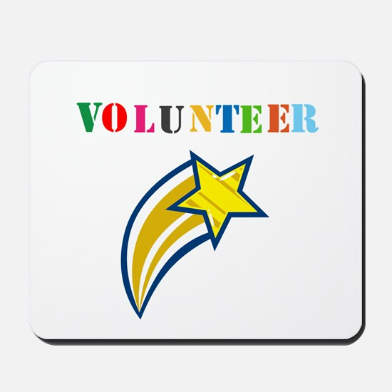 VOLUNTEER TWOSTARS DESIGN. STAR. Mousepad