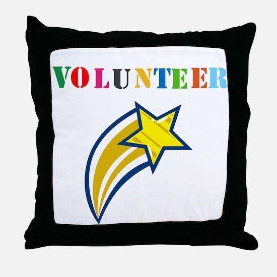 VOLUNTEER TWOSTARS DESIGN. STAR. Throw Pillow