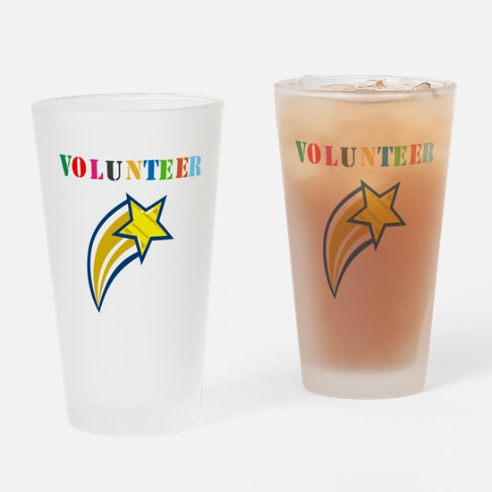 VOLUNTEER TWOSTARS DESIGN. STAR. Drinking Glass