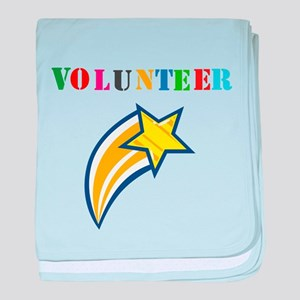VOLUNTEER TWOSTARS DESIGN. STAR. baby blanket