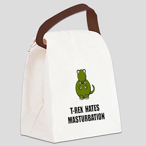 T Rex Masturbation Canvas Lunch Bag