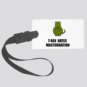 T Rex Masturbation Luggage Tag