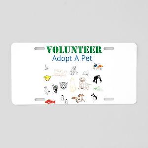VOLUNTEER TWOSTARS. ADOPT A PET. Aluminum License