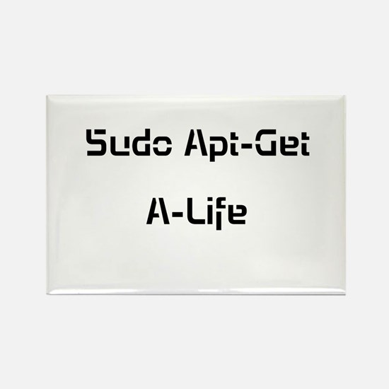 Apt-Get A-Life Rectangle Magnet