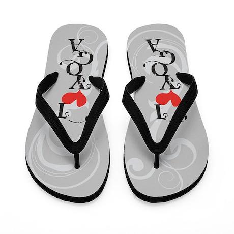 I Love (heart) Yoga Flip Flops