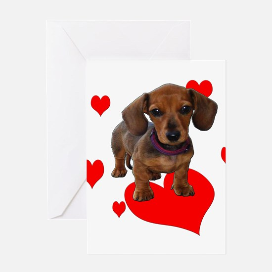 Love Dachshunds Greeting Card