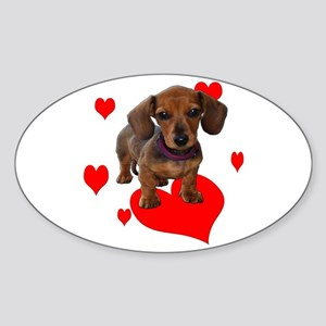 Love Dachshunds Sticker