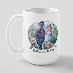 Planet of the Pigs Large Mug