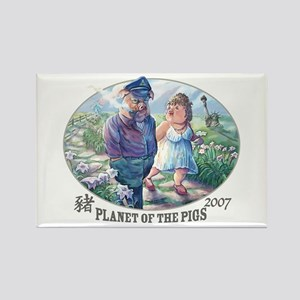 Planet of the Pigs Rectangle Magnet