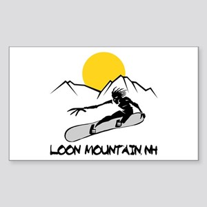 Loon Mountain Snowboarding Rectangle Sticker
