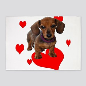 Love Dachshunds 5'x7'Area Rug