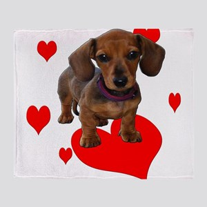 Love Dachshunds Throw Blanket