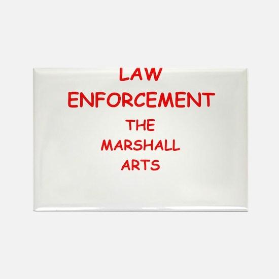 law enforcement Rectangle Magnet