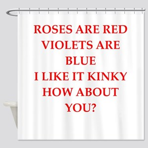 poem Shower Curtain
