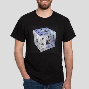 Silver Menger Sponge fractal Dark T-Shirt