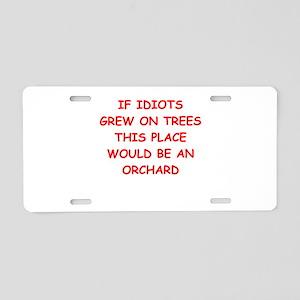 idiots Aluminum License Plate