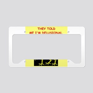 delusional License Plate Holder