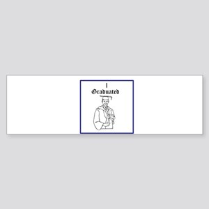 I Graduated Bumper Sticker