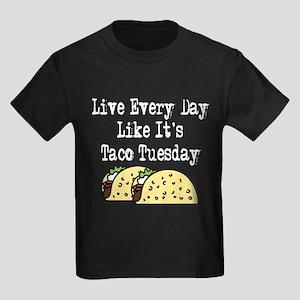 Taco Tuesday Kids Dark T-Shirt