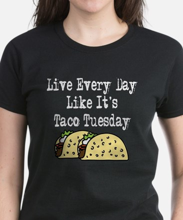 Taco Tuesday Women's Dark T-Shirt