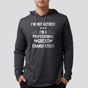 I'm not retired I'm a pr Mens Hooded Shirt
