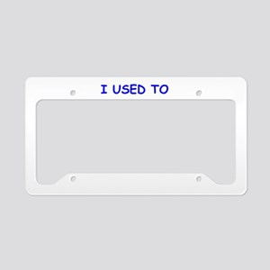 old age License Plate Holder