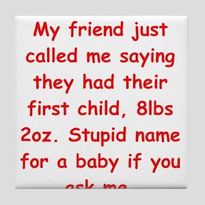 baby name Tile Coaster