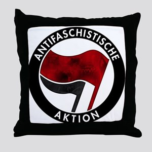 Antifa Logo Throw Pillow