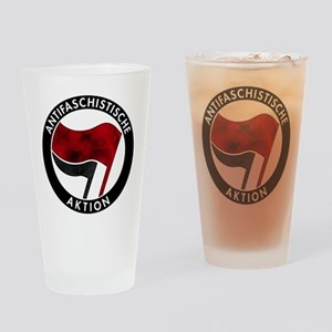 Antifa Logo Drinking Glass
