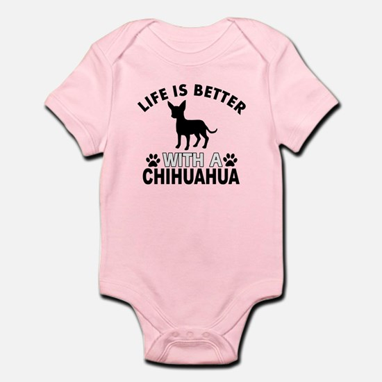 Chihuahua vector designs Infant Bodysuit
