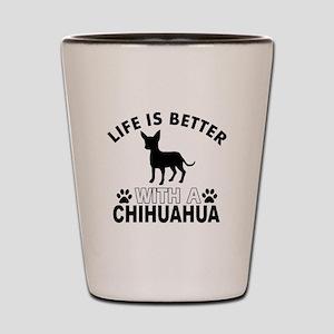 Chihuahua vector designs Shot Glass