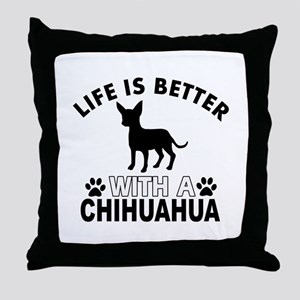 Chihuahua vector designs Throw Pillow