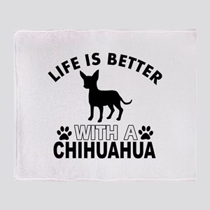 Chihuahua vector designs Throw Blanket