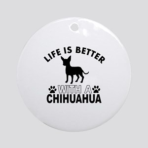 Chihuahua vector designs Ornament (Round)