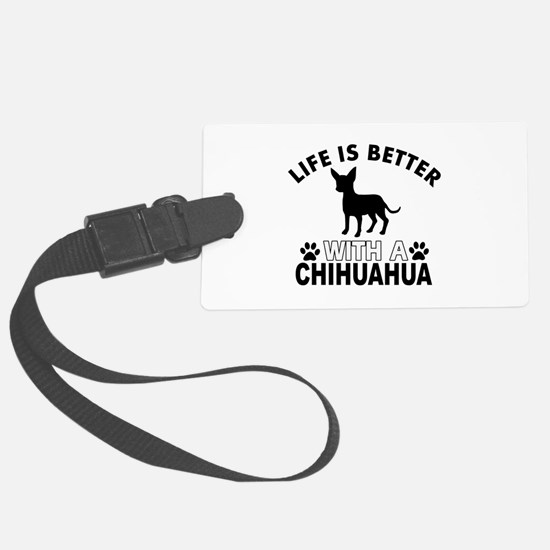 Chihuahua vector designs Luggage Tag