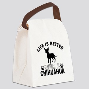 Chihuahua vector designs Canvas Lunch Bag
