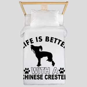 Chinese Crested vector designs Twin Duvet