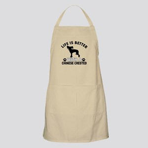 Chinese Crested vector designs Apron