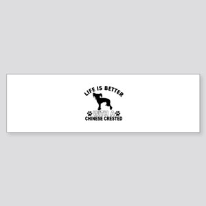 Chinese Crested vector designs Sticker (Bumper)