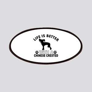 Chinese Crested vector designs Patches