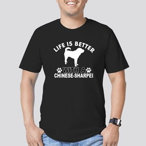 Chinese Sharpei vector designs Men's Fitted T-Shir
