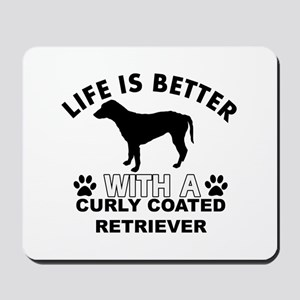 Curly Coated Retriever vector designs Mousepad