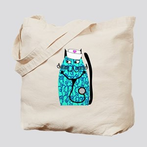 nurse cat 1 Tote Bag