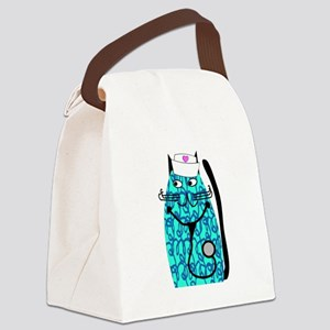 nurse cat 1 Canvas Lunch Bag