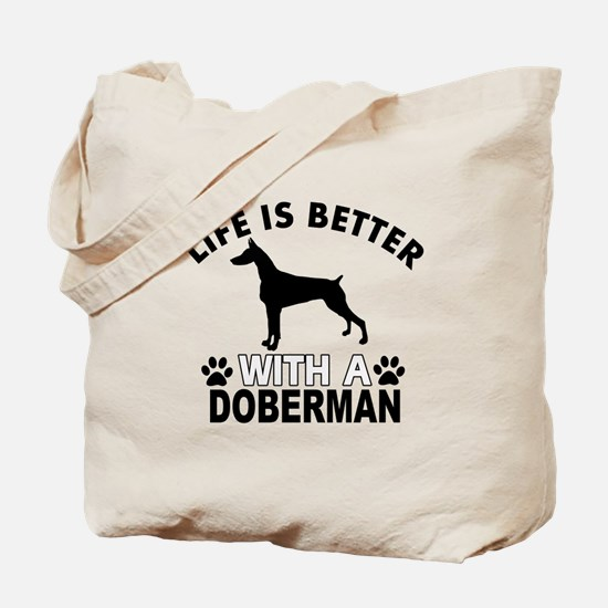Doberman vector designs Tote Bag