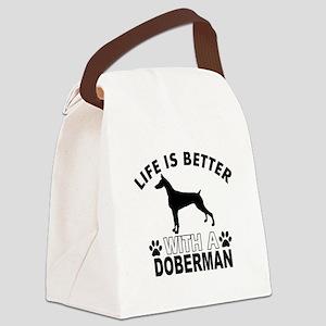 Doberman vector designs Canvas Lunch Bag