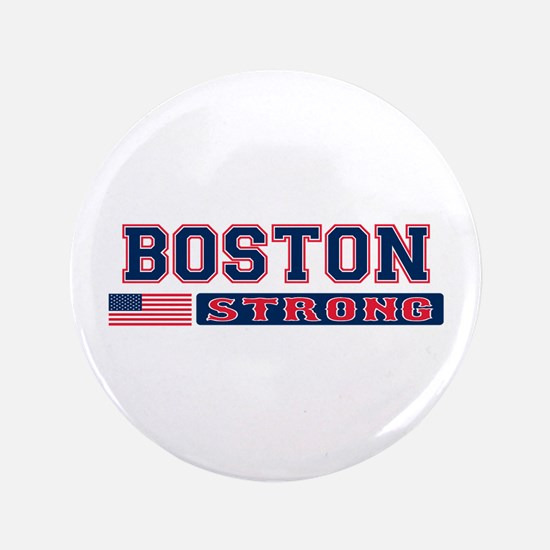 """BOSTON STRONG U.S. Flag 3.5"""" Button (100 pack)"""