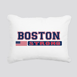 BOSTON STRONG U.S. Flag Rectangular Canvas Pillow