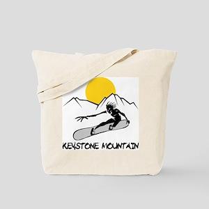 Keystone Mountain Snowboarding Tote Bag