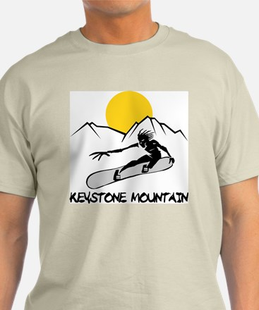 Keystone Mountain Snowboarding Ash Grey T-Shirt